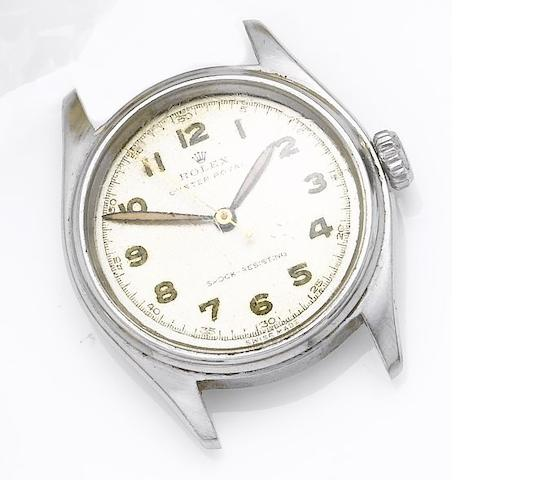 Rolex. A stainless steel centre seconds wristwatch Oyster Royal, Ref:6044, 1950's