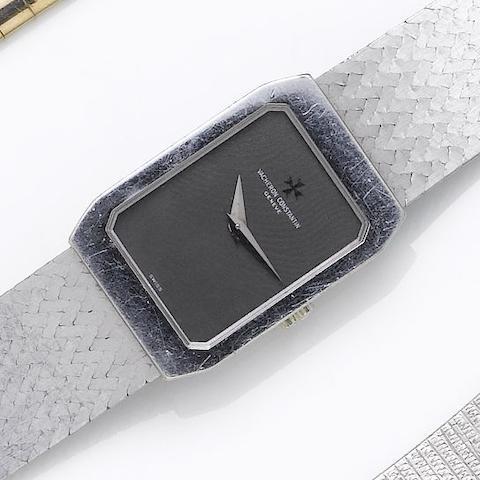 Vacheron Constatin. A lady's 18ct white gold bracelet watch 1970's