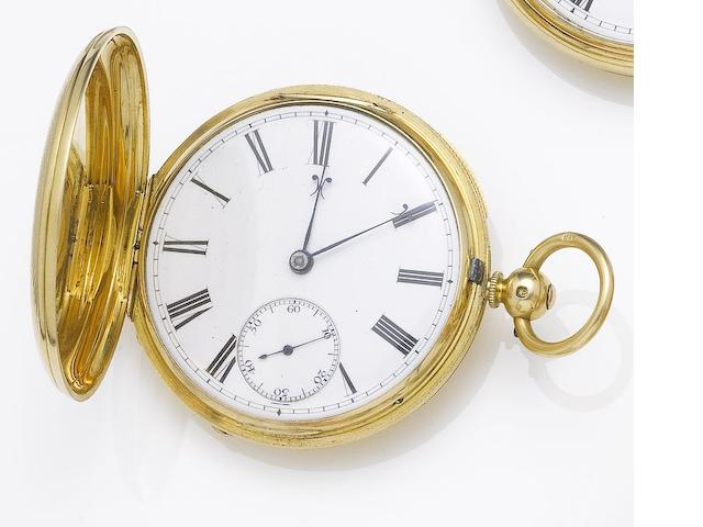 George Clark, London. An 18ct gold open face pocket watch London Hallmark for 1863