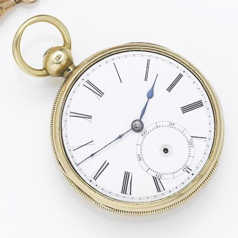 An 18ct gold open face pocket watch Chester Hallmark for 1803