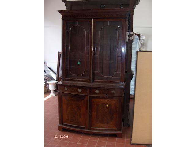 A 19th Century mahogany and ebony line inlaid bookcase,