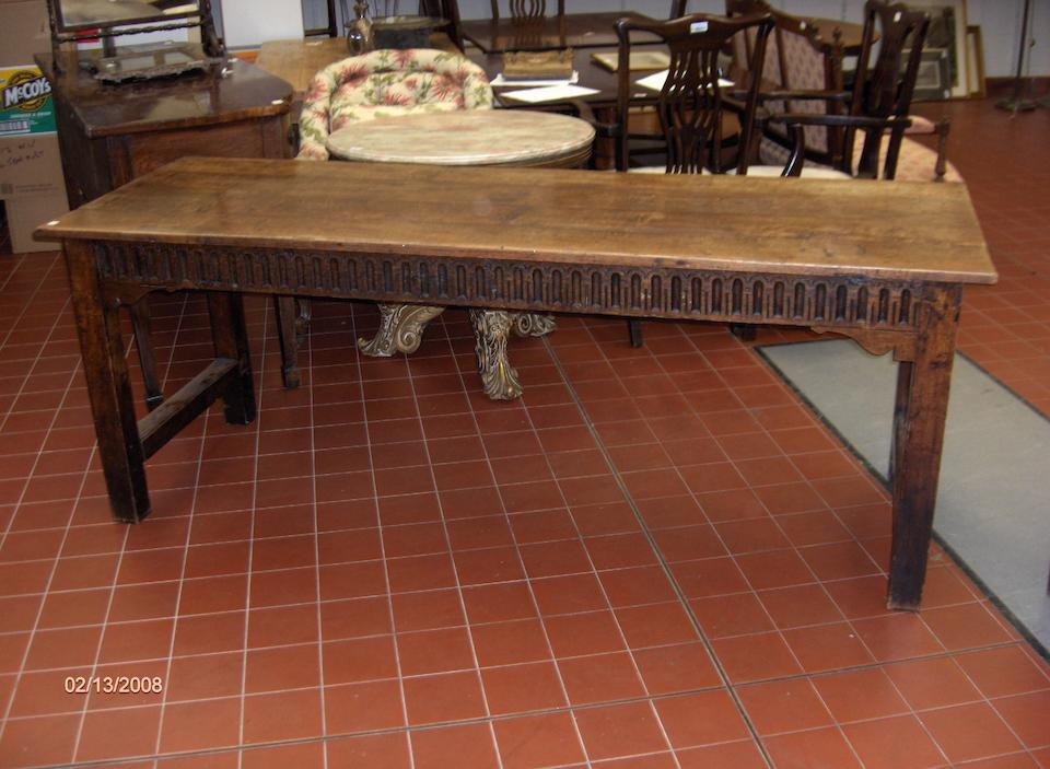 An 18th Century style oak refectory table