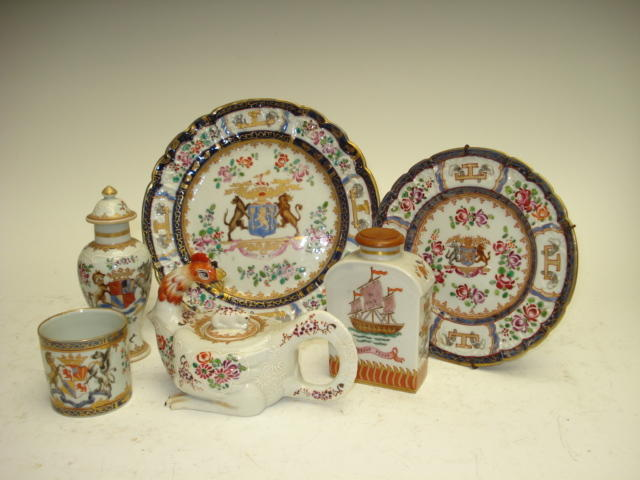 A small collection of Emile Samson porcelain French circa 1900
