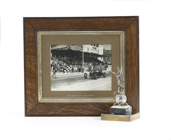 The Mannin Moar Trophy won by Brian Lewis in a Monoposto Alfa Romeo, 1935,