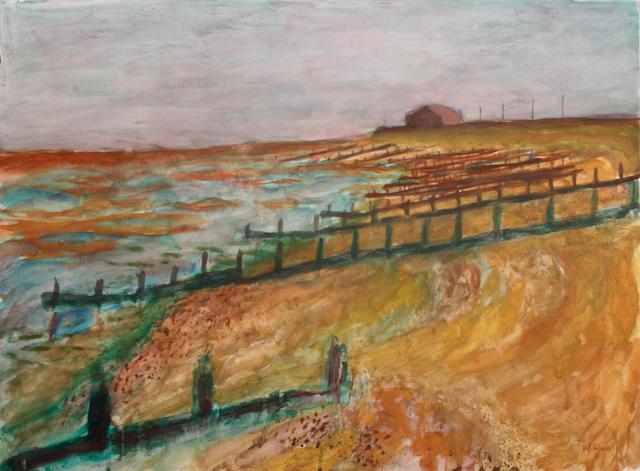 Hans Schwarz (British, 1922-2003) 'Seasalter (near Whitstable)'