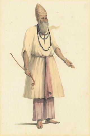 John Gantz (British, 1772-1853) A pair of Fakir studies