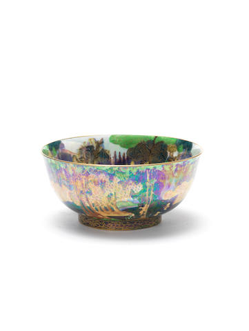 Daisy Makeig-Jones for Wedgwood  'Woodland Bridge' a Fairyland lustre Imperial Bowl, circa 1925