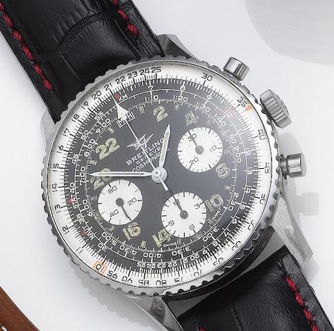 Breitling. A stainless steel chronograph wristwatchCosmonaute, Ref:809, 1960's