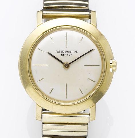 Patek Philippe. An 18ct gold dress wristwatchCase No.2620247, Movement No.787522, Ref:2595, 1970's