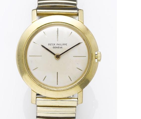 Patek Philippe. An 18ct gold dress wristwatch Case No.2620247, Movement No.787522, Ref:2595, 1970's