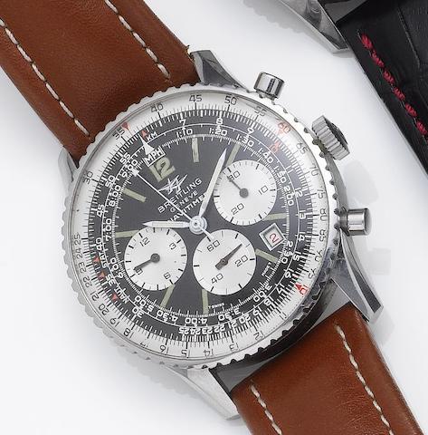 Breitling. A stainless steel chronograph calendar wristwatch Navitimer, 1960's