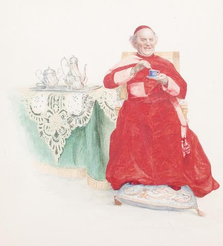 Georges Croegaert (Belgian, 1848-1923) His favourite beverage