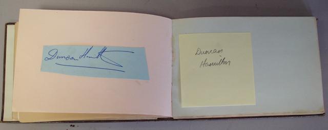 A motor racing autograph album,