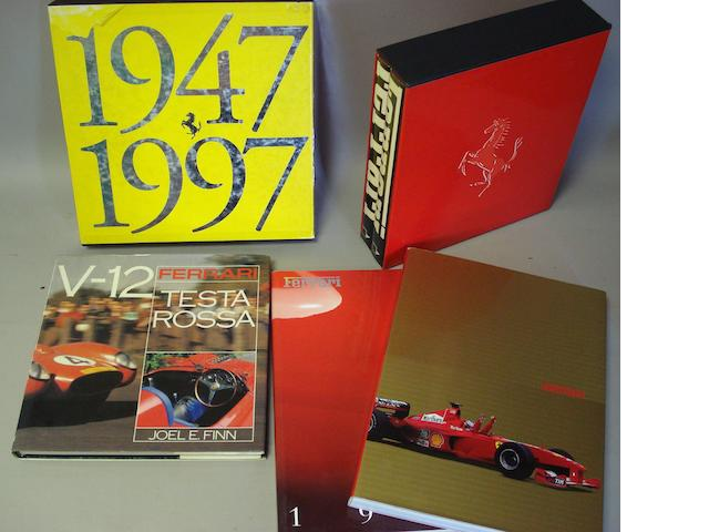 A selection of Ferrari literature,