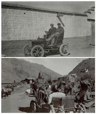 TIBET Album, likely to have belonged a mechanic responsible for the first motor cars Tibet