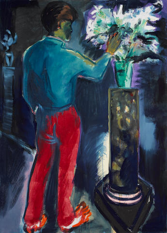 Rainer Fetting (German, 1949), 'Seine Blumen III' 1981