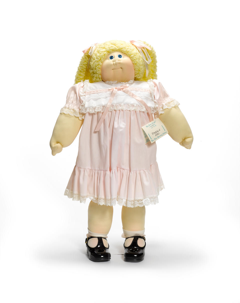 A large early the Little People Cabbage Patch doll Maggie Kasi, 1981