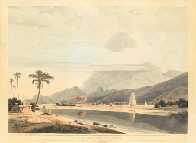 Thomas and William Daniel Cape Comorin, taken near Calcad aquatint, pub. Jan 1804, 48 x 64cm.