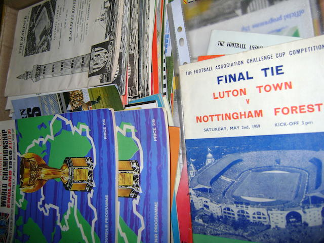 A large collection of Football programmes