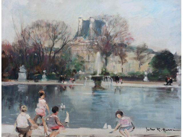 Jules René  Hervé  (French, 1887-1981) 46 x 55cm