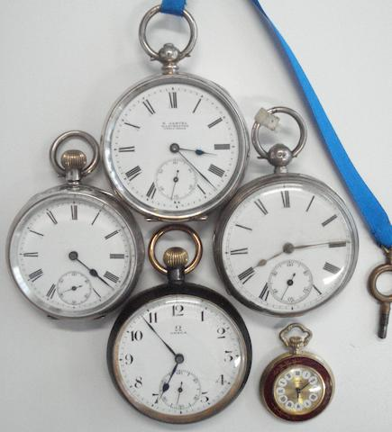 A lot of 5 various pocket watches (5)