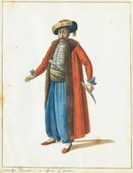 Follower of Octavian Dalvimart (British, active circa 1797-1802) Turkish costume studies, a set of s