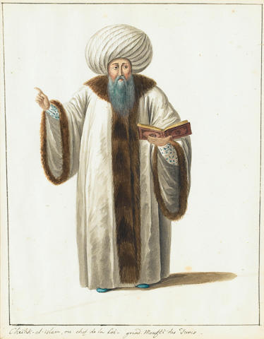 Follower of Octavian Dalvimart (British, active circa 1797-1802) Turkish costume studies, a set of s
