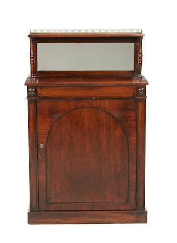 An early Victorian rosewood chiffonier