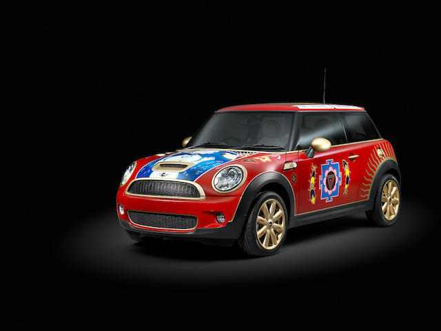 Proceeds to benefit the Material World Charitable Foundation,The George Harrison inspired 2008-built Mini Cooper S Hatchback  Chassis no. WMWMF 72OXO TT44727