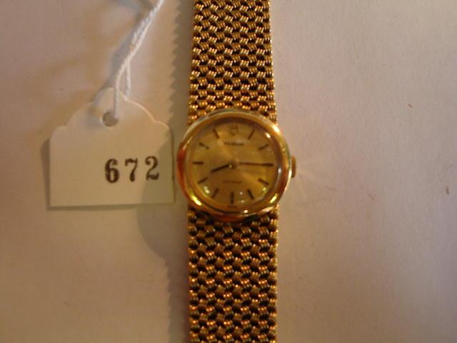 Tudor. A lady's 9ct gold bracelet watch