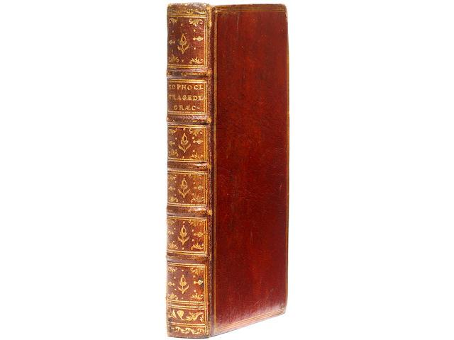 SOPHOCLES Tragaediae septem cum commentariis... Aiax flagellifer. Electra. Oedipus tyranus. Antigóne. Oedipus colonêus. Trachiniae. Philoctetes