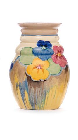 Bonhams Clarice Cliff Delecia Pansy A Vase Shape 358 Circa 1930
