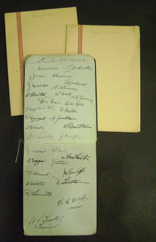 1937/38 football autograph book including Dixie Dean