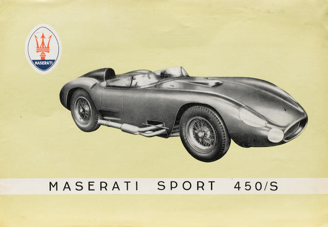 Two Maserati sports racing car sales sheets,