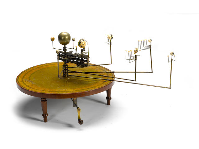 A rare Henry Negretti table planetarium or orrery, English, 1839-1848,