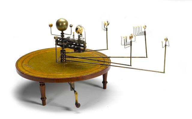 A rare Henry Negretti table planetarium or orrery, English, 1839-1848,
