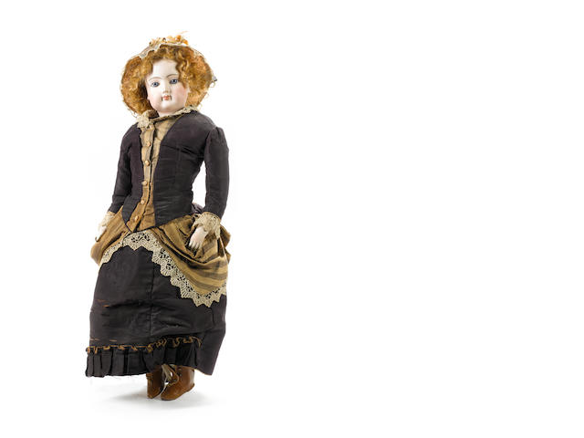 Large Francois Gaultier bisque shoulder head fashion doll, circa 1870
