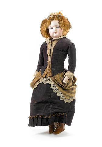 Large Francois Gaultier bisque shoulder head fashion doll, circa 1870