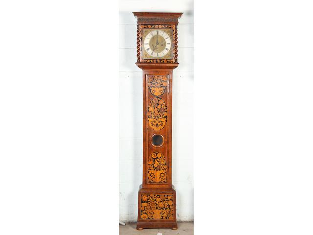 A marquetry longcase clock