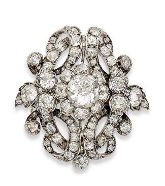 A late 19th century diamond brooch