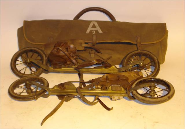 A pair of Dartlett's patent 'Road Skates', Anderson's, circa 1900,