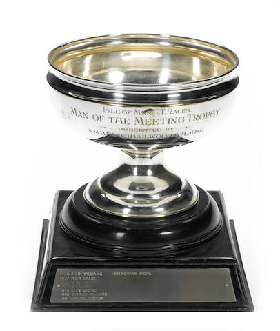 A Isle of Man TT Man of the Meeting trophy bowl,