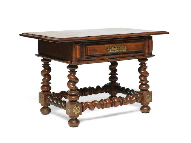 A late 17th century Portuguese rosewood table of small proportions