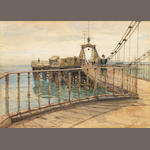 James Aumonier, R.I. (British, 1832-1911) Brighton Pier