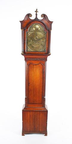 Geo III oak longcase clock