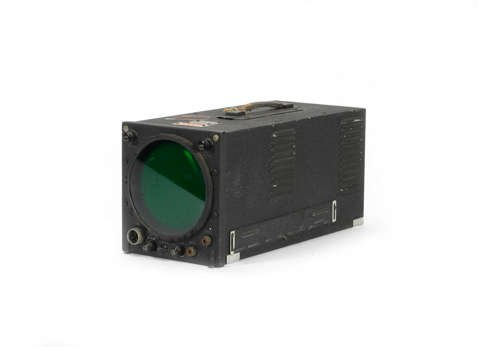 The 'Block III' aeroplane missile guiding television monitoring system, secretly manufactured by RCA for use during WWII, 1944-45,