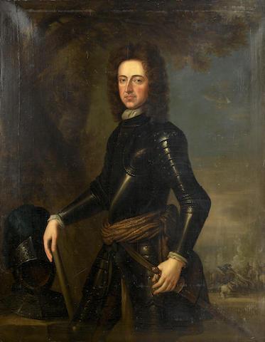 Follower of Sir Godfrey Kneller (Lübeck 1646-1723 London) Portrait of King William III, three-quarter-length,