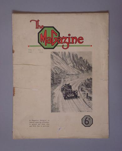 A copy of the MG Magazine Issue Number 1, 1933,