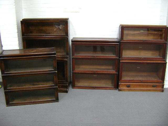 A six tier GLOBE WERNIKE oak bookcase