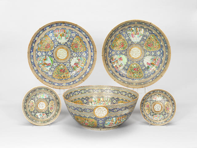 A collection of Canton porcelain made for Zill al-Sultan, son of Nadir al-Din Shah China, dated AH 1